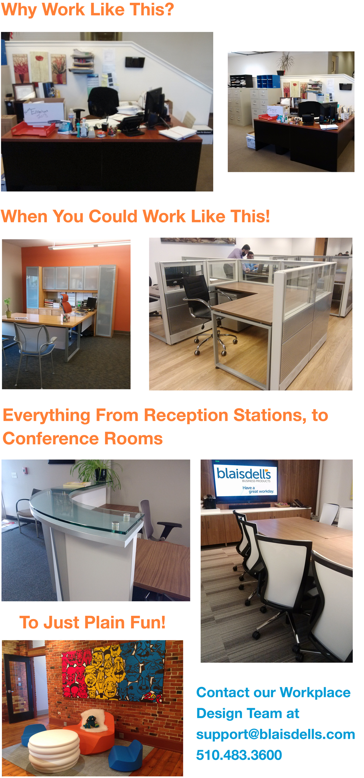 Before and After Pics | Workplace Furniture Design Oakland