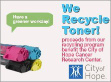 We Recycle Toner!