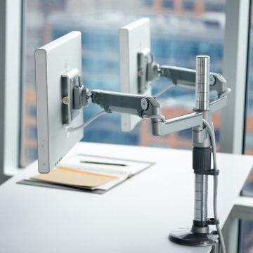 Ergonomic monitor stand
