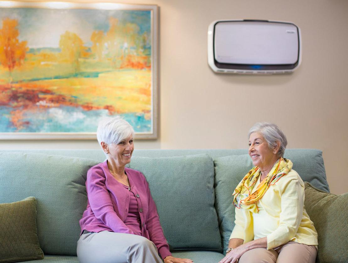 fellowes aeramax professional air purifier in senior living facility