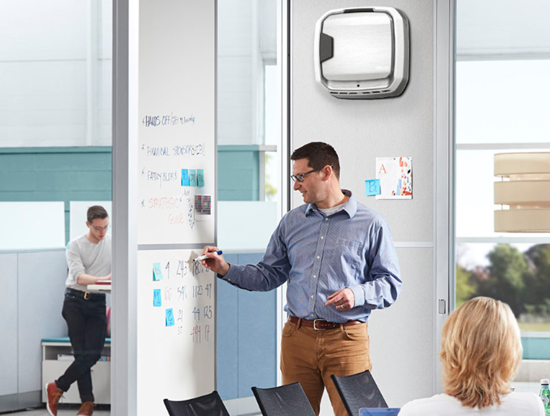 fellowes aeramax professional air purifier in conference rooms